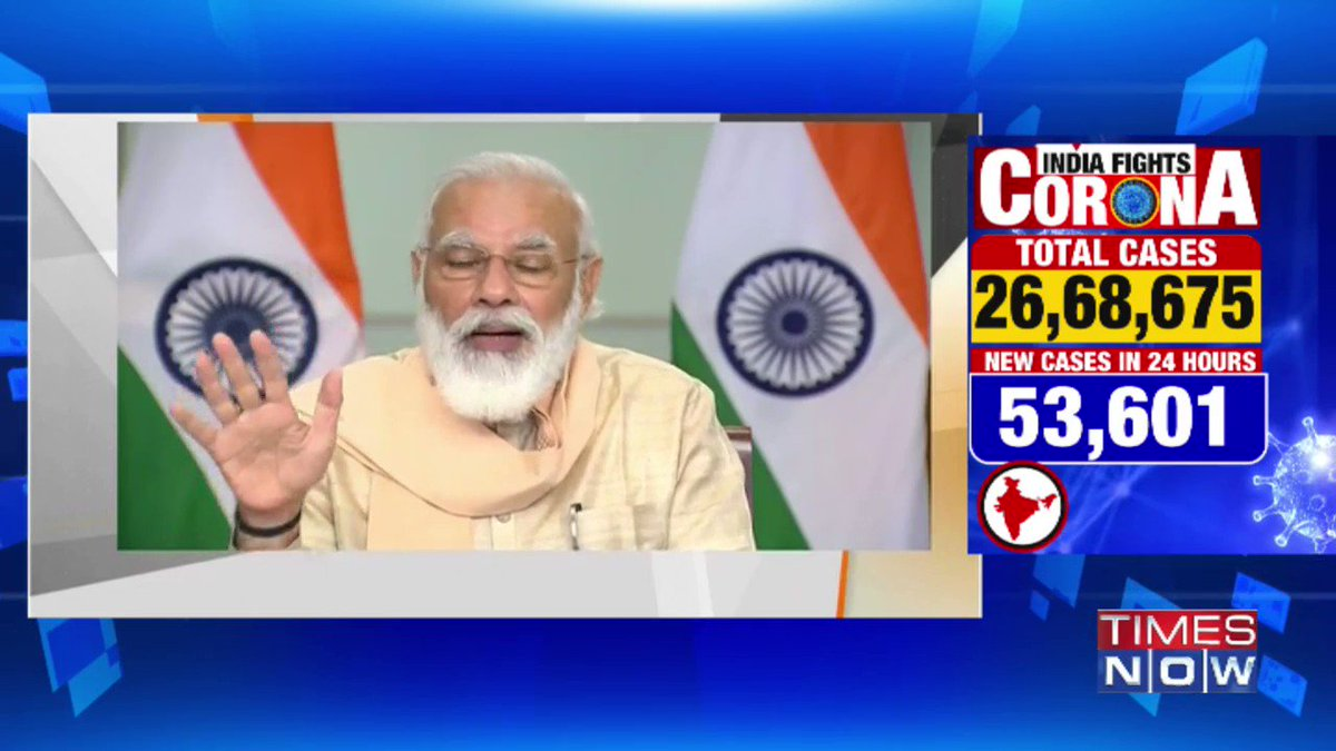 #Live | Our recovery rate is steadily improving. The Covid-19 situation in 10-worst hit states must be improved: PM @NarendraModi.