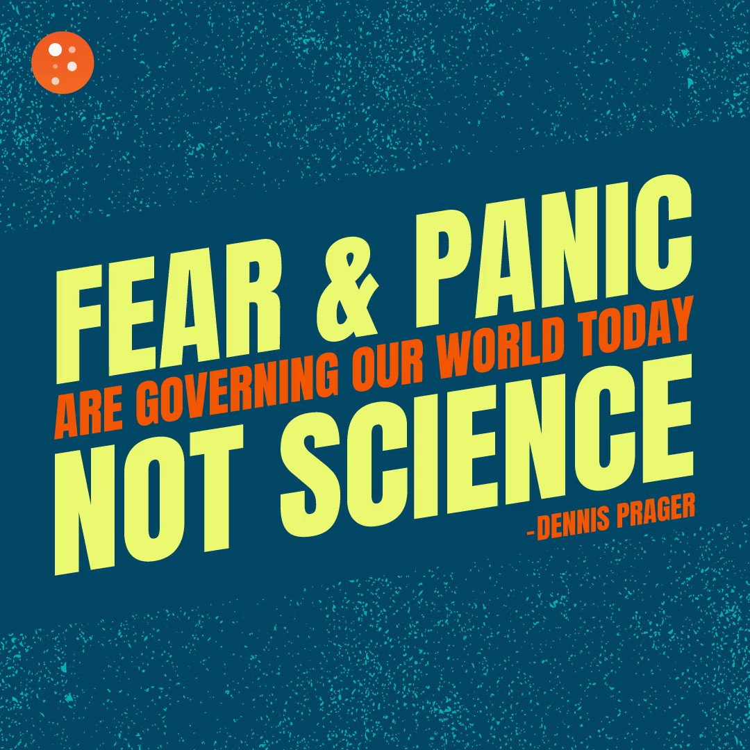 Image for the Tweet beginning: Because fear and panic are