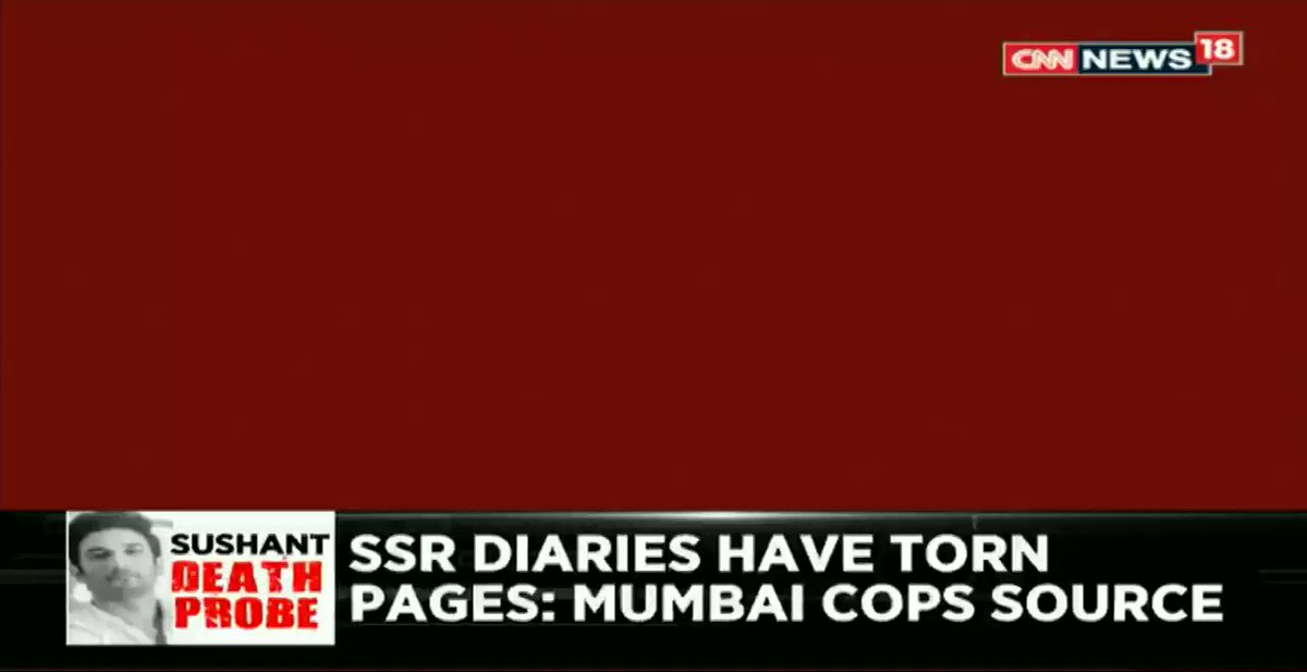#NewsAlert – 12 diaries of Sushant Singh Rajput have been seized by the police. Sushant's diaries have torn pages: Mumbai Police Source.   @mihirz shares more details with @vandanaseb.   #WhoKilledSushant https://t.co/ADwZf8yT8Z