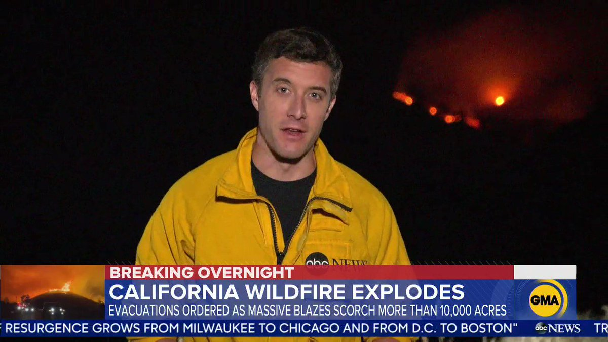 Evacuations ordered as Lake fire chars over 10,000 acres. @WillCarr reports. gma.abc/341PdOF