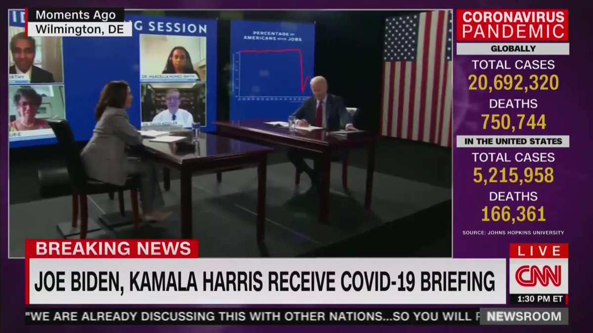 WATCH: As soon as reporters got a chance to ask Joe Biden a question, his handlers swiftly moved to protect Biden and kick them out. Even CNN noticed: We keep pressing the Biden campaign. There needs to be more questions from reporters. What are they so afraid of?