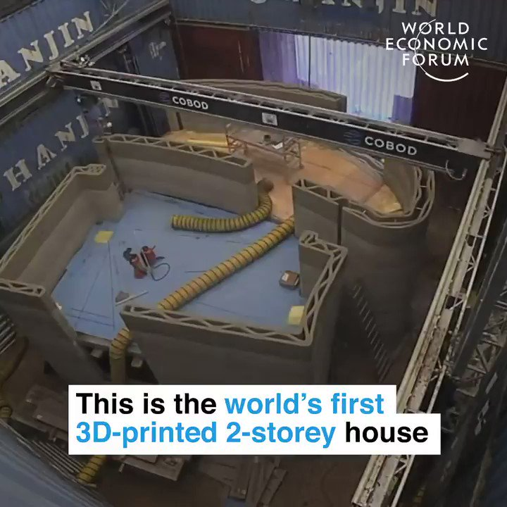 The world's first 2-storey 3D-printed house.