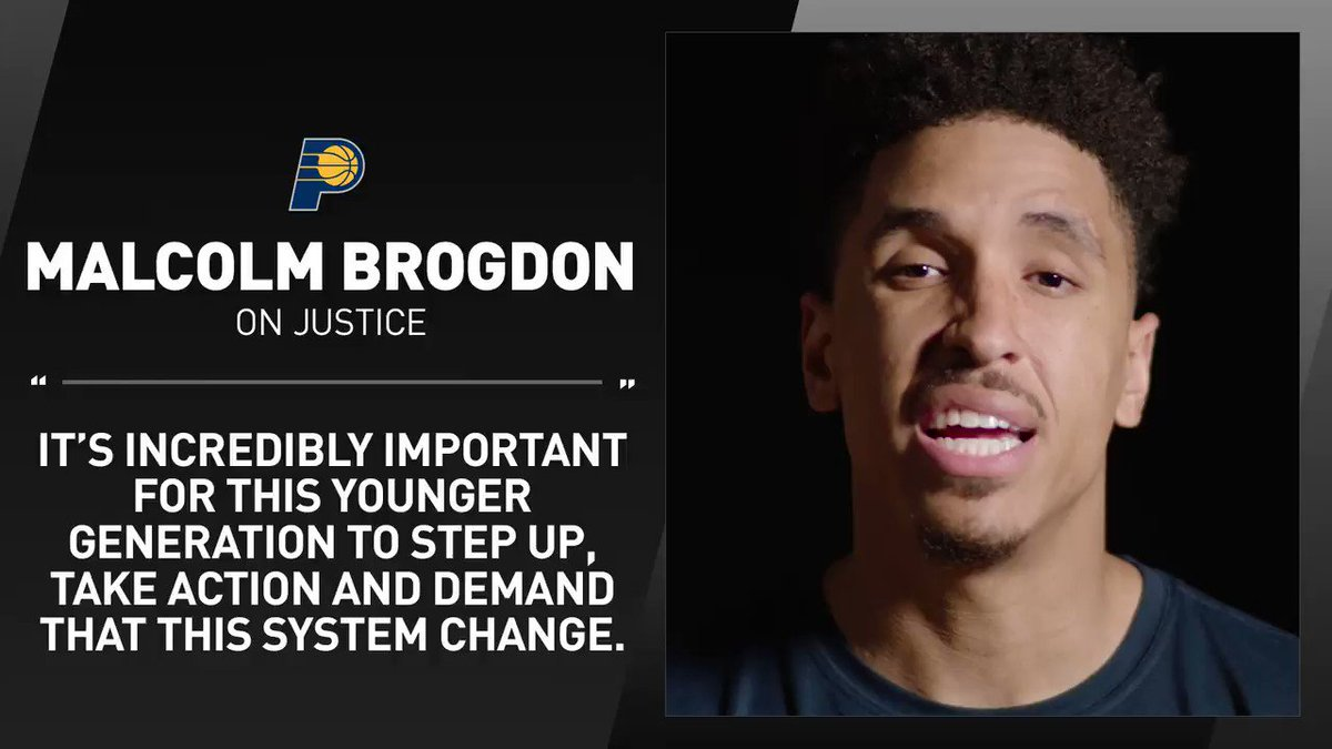 .@MalcolmBrogdon7 on creating change and demanding justice. https://t.co/VLFjEYZrm8