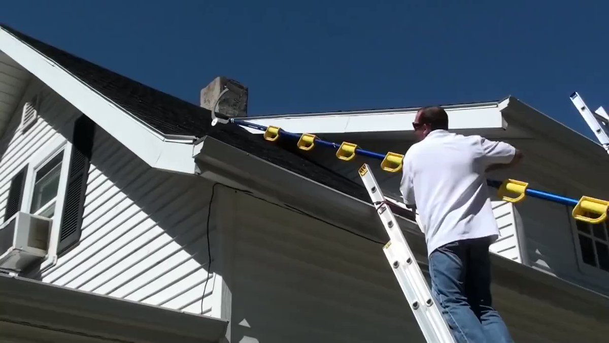 Image for the Tweet beginning: Roof chores just got so
