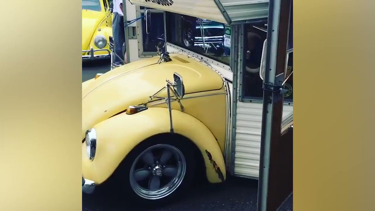 Image for the Tweet beginning: A converted VW Beetle into