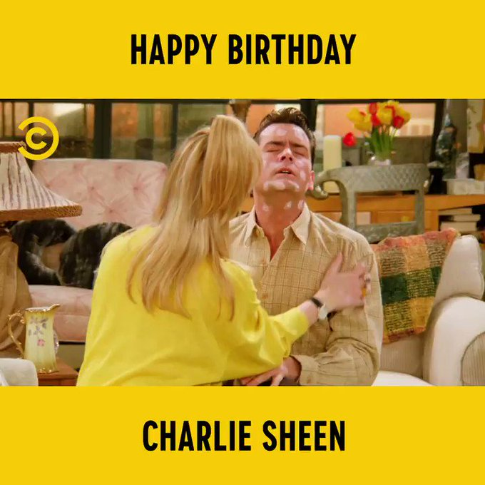 """Hey Ryan what\s up?\"" Happy Birthday Charlie Sheen"