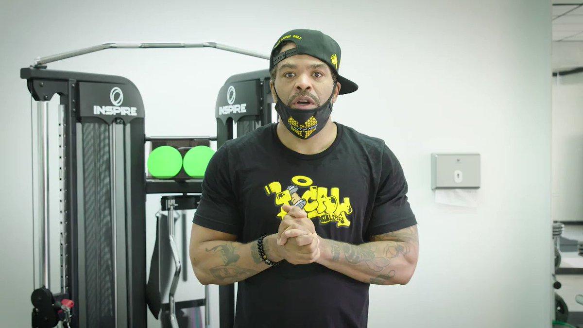 Image for the Tweet beginning: Method Man takes his training