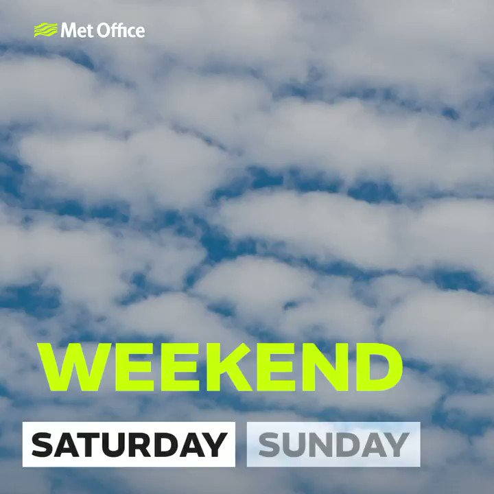 Here's a look at the weather for the weekend 👇 #BankHolidayWeekend