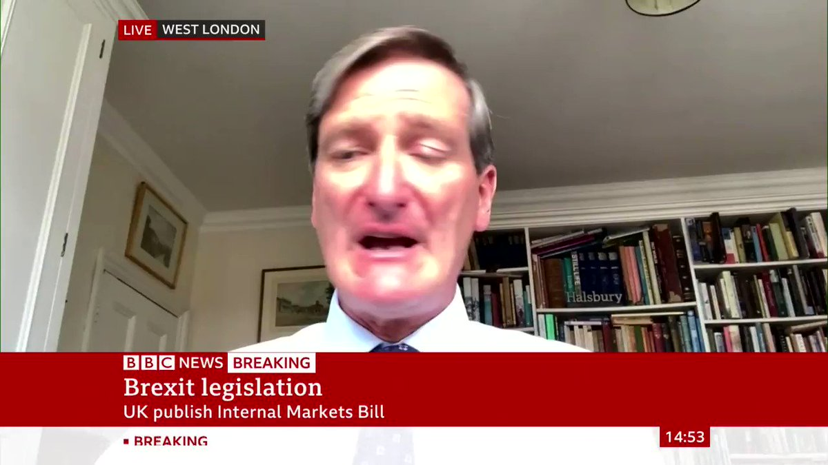 """""""This is a government that flies by the seat of its pants and the prime minister is prepared to promise anything to anybody... if he thinks it's going to help him get through the next few days""""  Ex-Attorney General Dominic Grieve on changes to Brexit deal"""