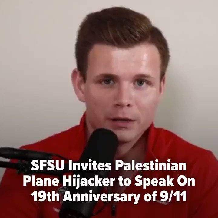 LEFTIST CAMPUS OUTRAGE 🚨 A leftist student group invited a Palestinian terrorist hijacker to speak just after the 19th anniversary of 9/11. @GGXnews, the official newsroom of @SFSU, remains silent – typical leftist student media.