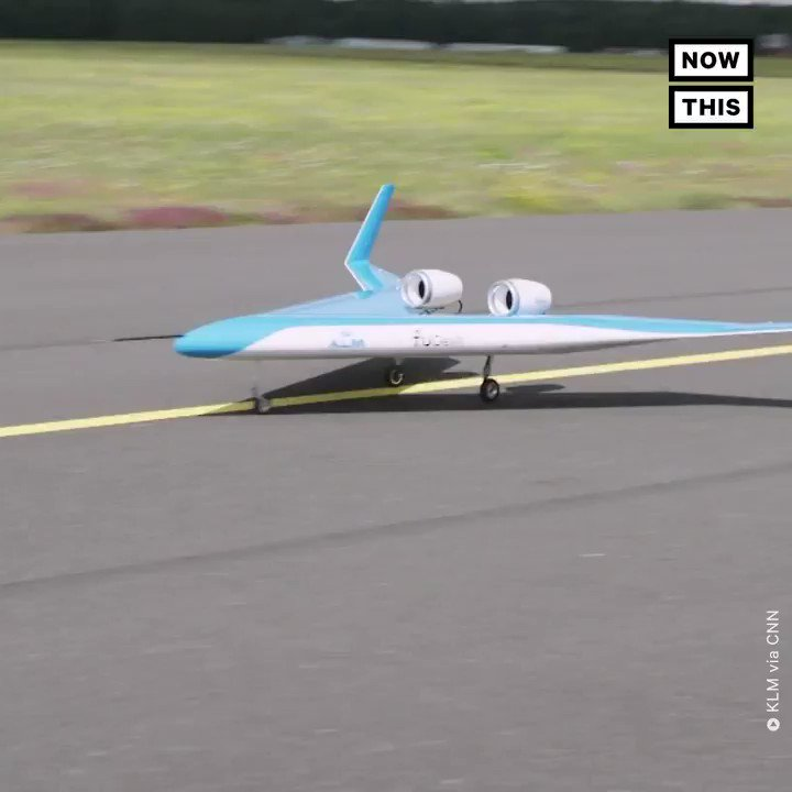 This v-shaped plane could be the future of air travel. It's unique design places the passenger cabin, cargo hold, and fuel tanks in the wings, with an aerodynamic shape that cuts fuel consumption by 20%. Researchers successfully tested this 10-ft unmanned prototype in Germany. https://t.co/2Offgr61tF