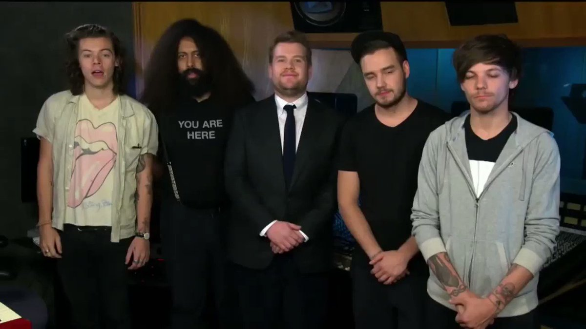 Let's bask in the sweet, sweet glow of these One Direction + Late Late Show memories.