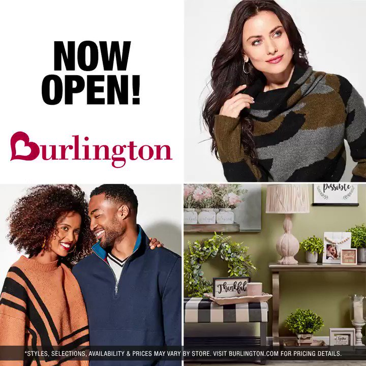 Please help us welcome our seventeen newest stores to the Burlington family now open. For location information click here –