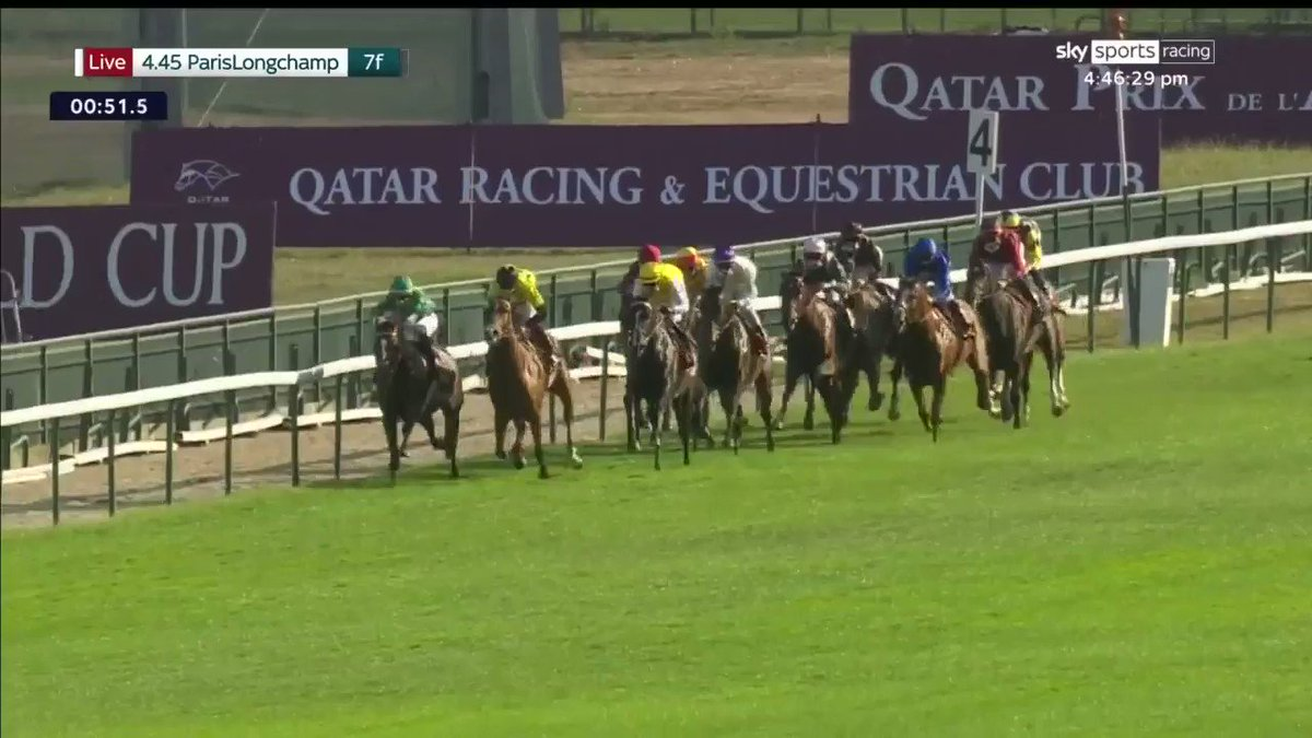 That's more like it! Earthlight bounces back from defeat behind Space Blues to win the Group 3 Qatar Prix du Pin for @mickaelbarzalon, André Fabre and @godolphin at @paris_longchamp…