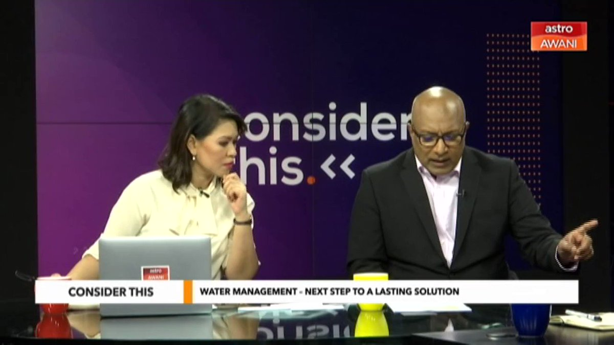 Based on a survey, more than 70% of the respondents agree if states fail to take care of water resources, then it should be given to Federal, @SharaadKuttan & @melisa_idris speak to @piaraAWER about water management. in the country Watch #ConsiderThis at bit.ly/ConsiderThis20