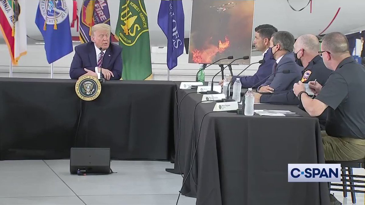 """California Natural Resources Secretary @WadeCrowfoot: """"We've had temperatures explode this summer...""""  President Trump: """"It'll start getting cooler, you just watch.""""   Crowfoot: """"I wish science agreed with you.""""  Trump: """"I don't think science knows, actually."""" https://t.co/xJPYoTjJBo"""
