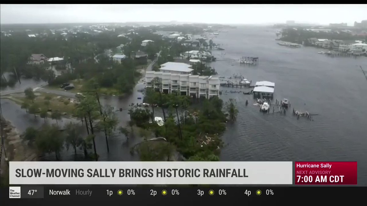 ICYMI: I joined the @weatherchannel this morning to discuss FL's ongoing response to Hurricane #Sally. Floridians in Escambia, Santa Rosa and Gulf Coast counties should remain vigilant, follow @FLSERT & local weather reports, and avoid floodwater as much as possible.