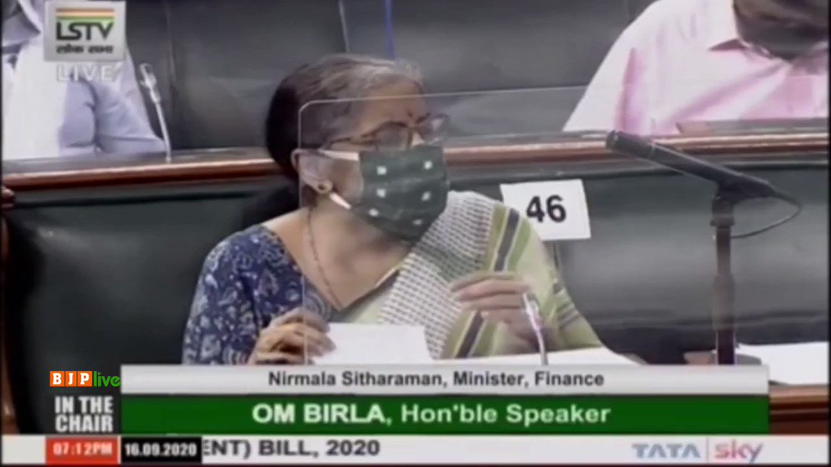 For better governance of cooperative banks, we need to have these regulations coming in: Smt @nsitharaman in her reply to the debate on Banking Regulation (Amendment) Bill 2020 in LS