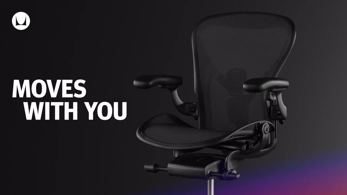 Healthy movement is a key factor when it comes to ergonomics. Aeron's highly technical Harmonic 2 Tilt lets the chair move with your body naturally for a more comfortable, more ergonomic way to play. Shop now: https://t.co/fihPyqrVqr #hmgaming https://t.co/VsxkNWI1oT