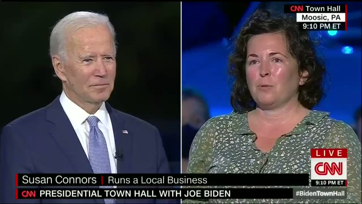 Unlike President Trump, I'll be a president for all Americans — not just the ones who vote for me. #BidenTownHall