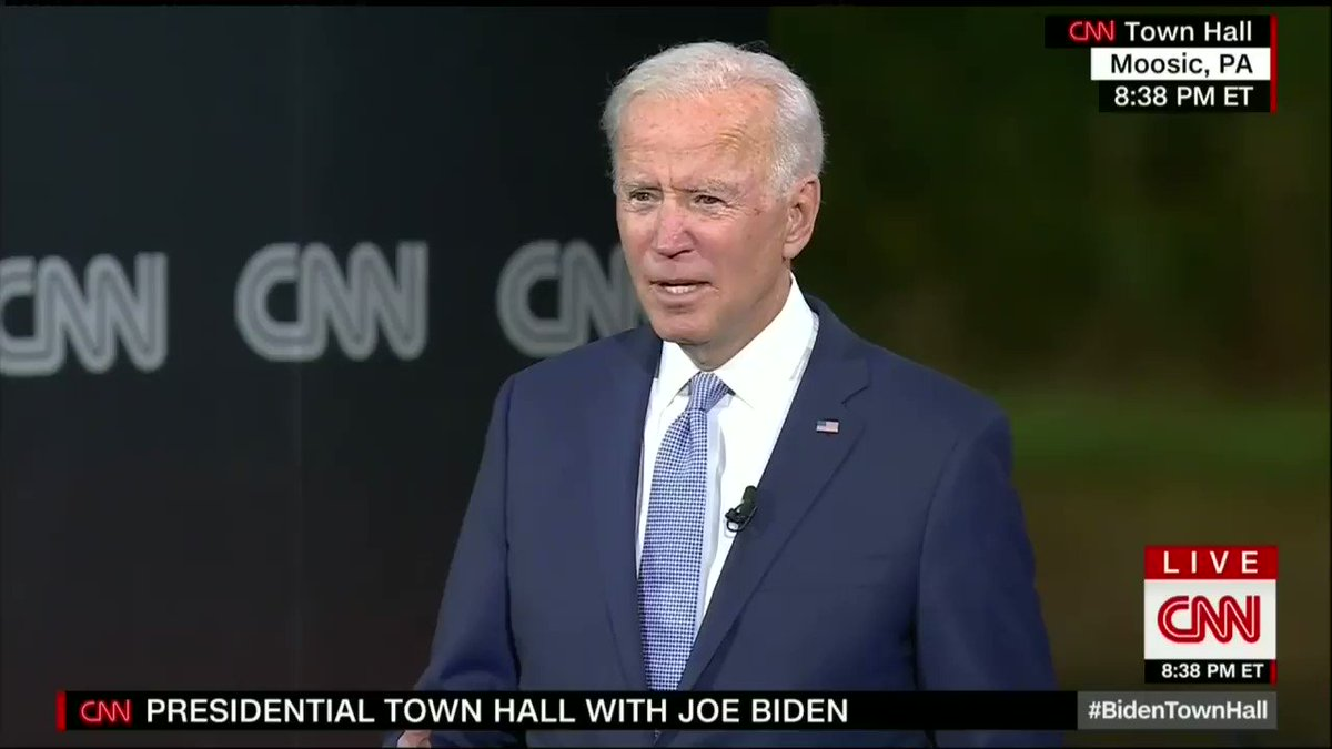 What the hell makes you think I need an Ivy League degree to be president? #BidenTownHall