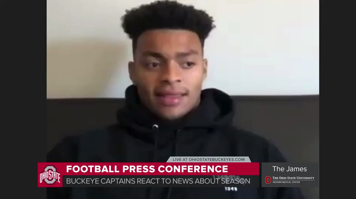 🎙️ Justin Fields on finally having the opportunity to play the 2020 football season  Live NOW at  | #GoBuckeyes
