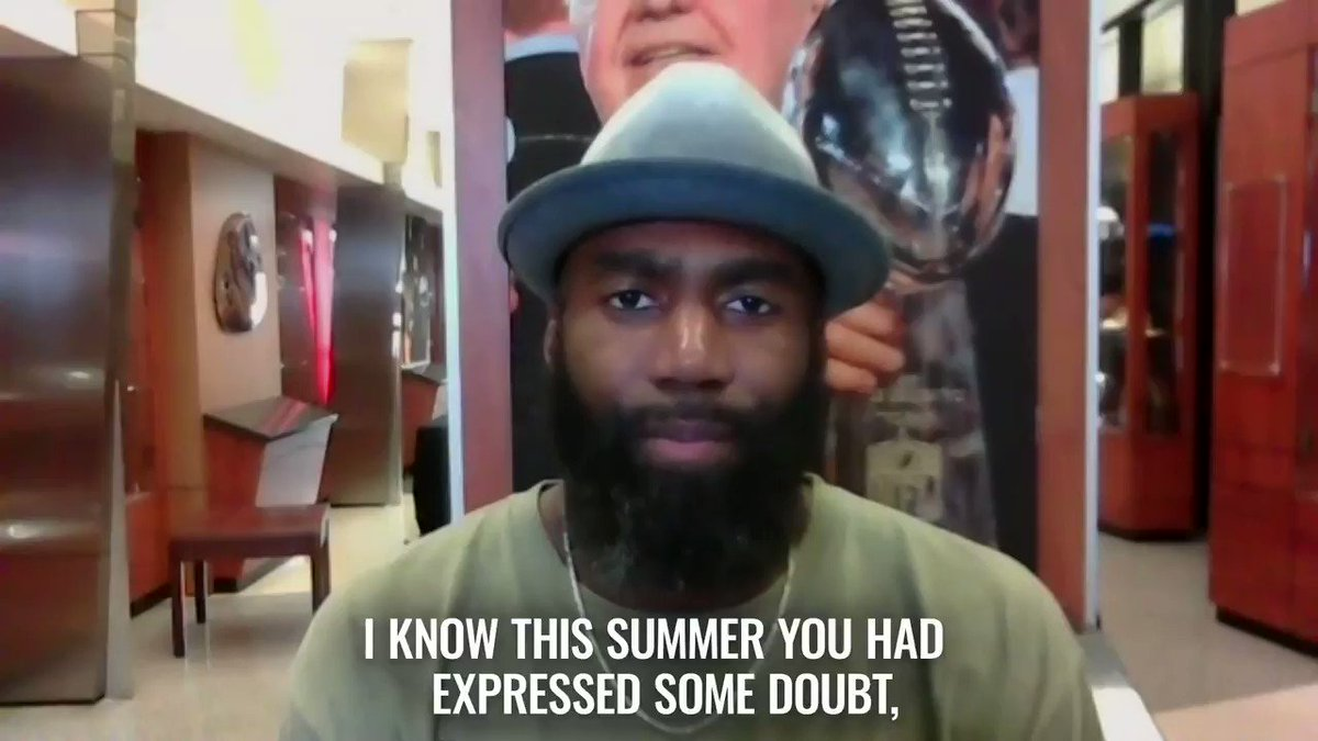 """""""I think we've gotten to a point where [NFL players] feel comfortable, we're getting tested every day. The positive tests have been really, really low."""" – @MalcolmJenkins https://t.co/fGbxn6zJiE"""