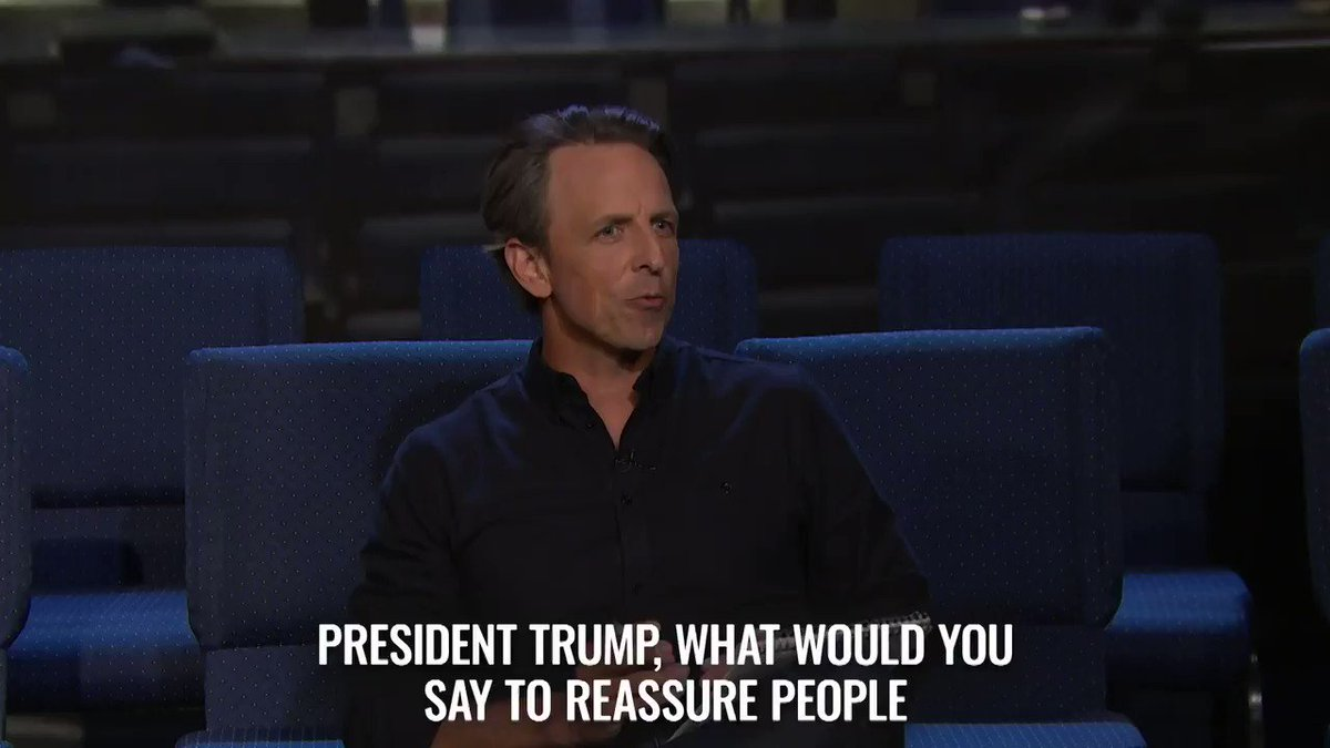 President Trump has some reassuring words for American citizens terrified of coronavirus. #LNSMPressBriefing https://t.co/tWO8zvZogp