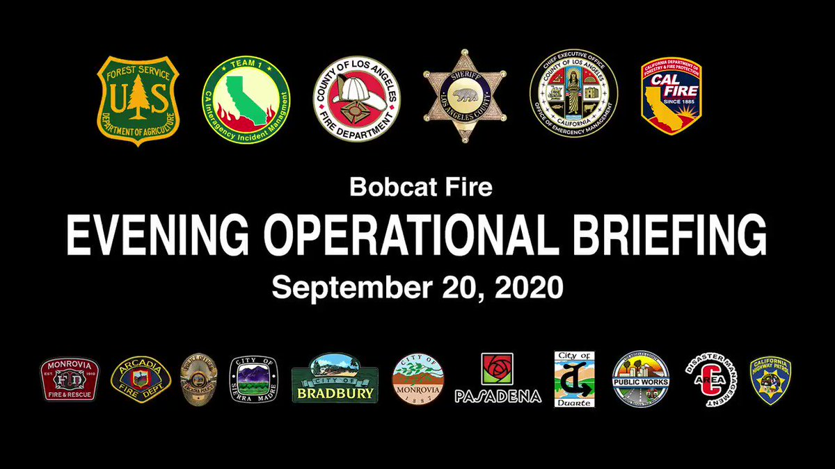 #BobcatFire Evening Operations Update for September 20, 2002.  #LACoFD