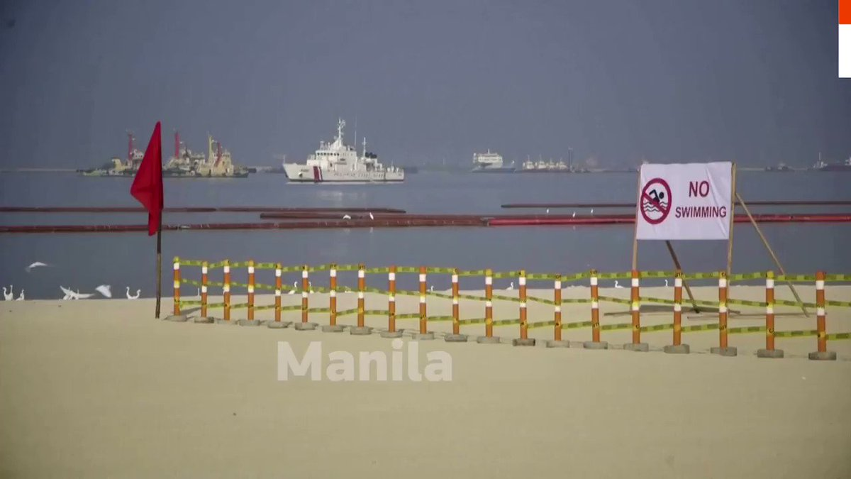 Polluted stretch of Philippines' Manila Bay gets a fake white sand makeover https://t.co/QnJaT9dUYU https://t.co/dHDFvJLZJT