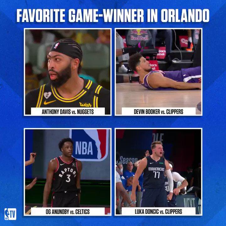 バブルでの試合で決まった決勝ブザービーター4本。あなたが選ぶBESTショットはどれ?via @NBATV