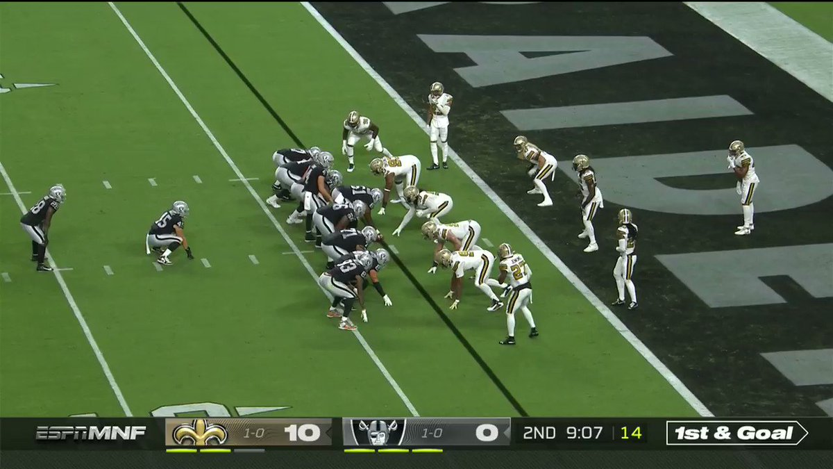 Who had an @AI_XLV touchdown on their bingo card?  That's how you cap off a drive.  #NOvsLV | ESPN | Live