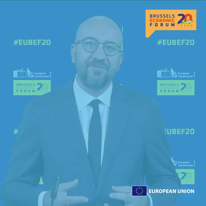 """""""This recovery plan is not just a simple stimulus plan.""""  @eucopresident Charles Michel closed the #EUBEF20 and spoke of Europe's Copernican moment.  You can rewatch it here → https://t.co/gESYLBw7NZ https://t.co/CDPR1l475T"""