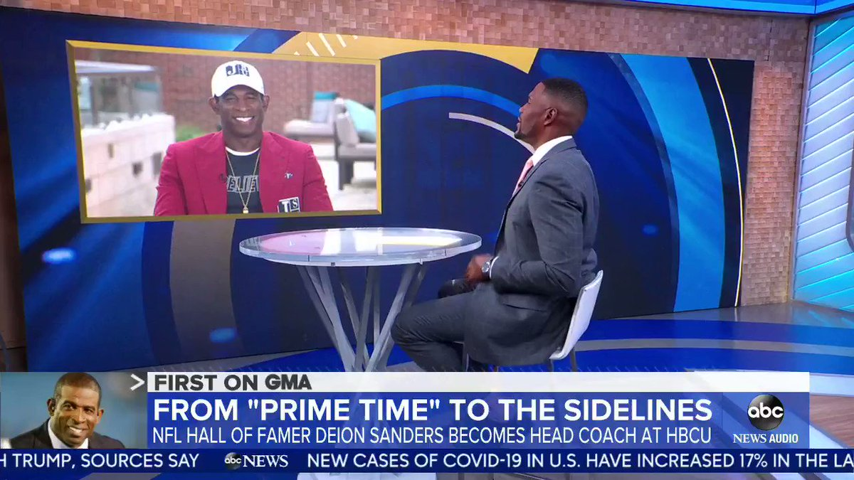 📺 @DeionSanders shares why he chose to coach at Jackson St. (via @GMA) https://t.co/3Bad6r134Q