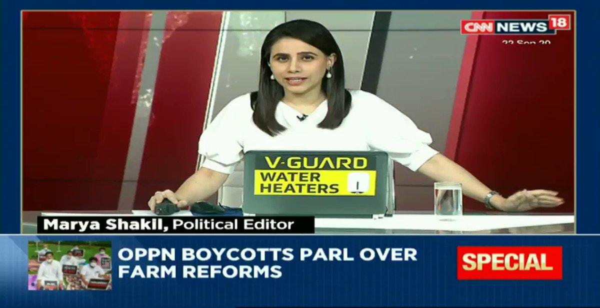 #KisanPolitics - Farm reform showdown: Opposition draws battlelines.  Watch #NewsEpicentre with @maryashakil https://t.co/WPYr3vJc1i