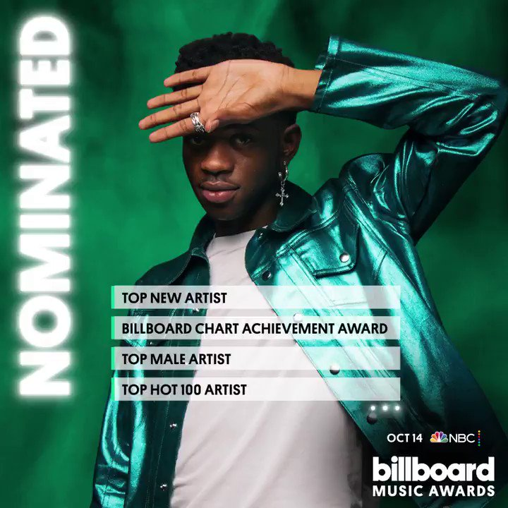 .@lilnasx is nominated 13 times at the 2020 #BBMAs! See the complete nominations list here: blbrd.cm/9YoeujW