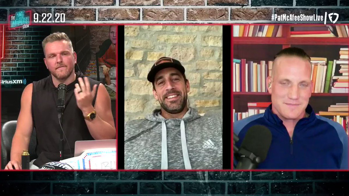 Replying to @PatMcAfeeShow: Why is @AaronRodgers12 having so much fun?  Let's hear it #PatMcAfeeShowLIVE