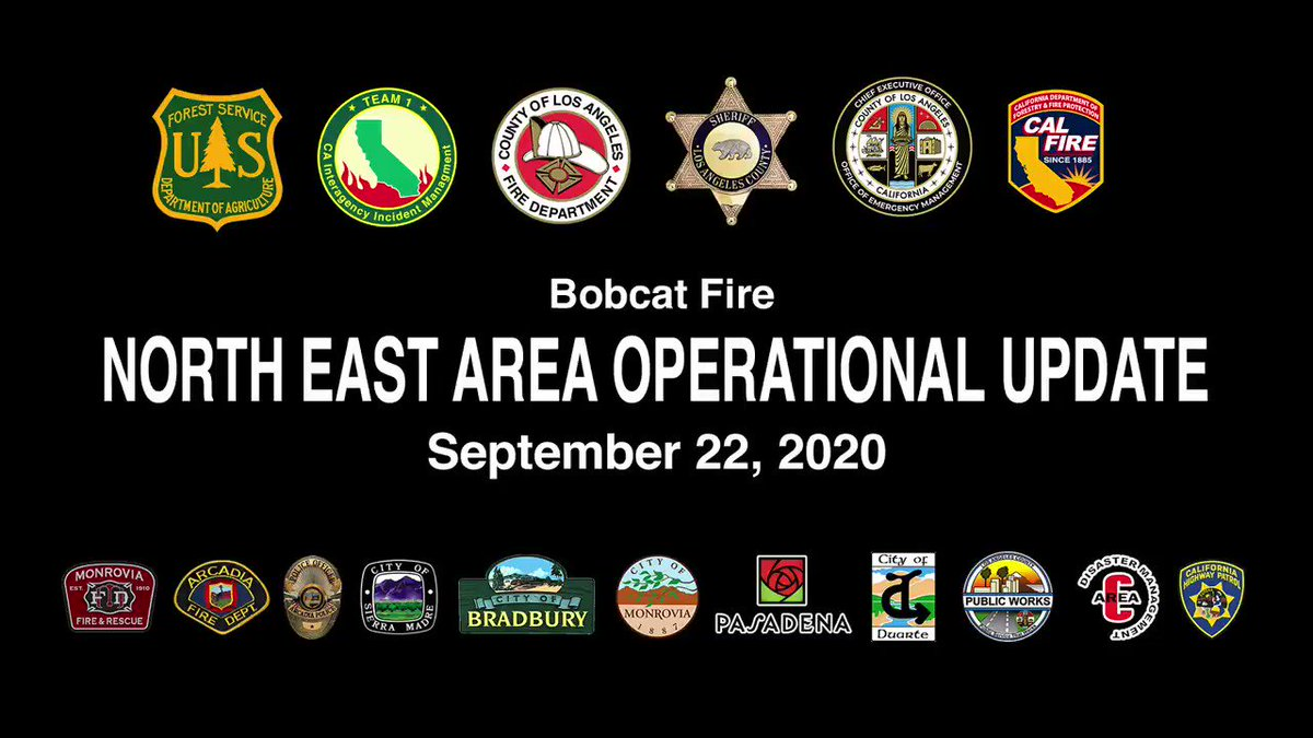 Image for the Tweet beginning: BobcatFire North East Operational Update