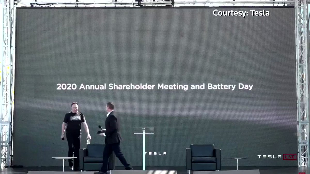 Tesla CEO Elon Musk held the company's shareholder meeting at an outdoor event in which attendees were seated in cars parked in front of a stage https://t.co/N3g3APGVRd https://t.co/BHRRvXerHj
