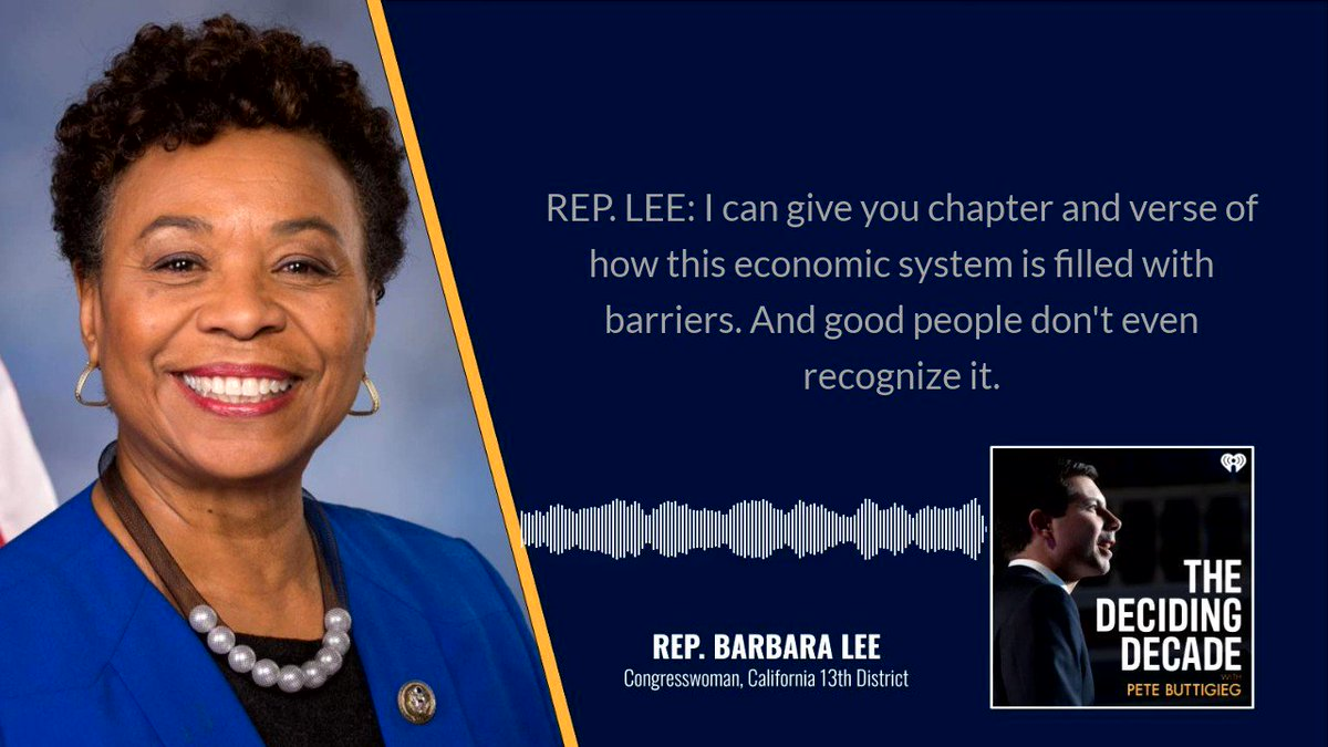 I've long admired @RepBarbaraLee's personal story and her progressive leadership. On this week's podcast, we talk about how our country can face our deepest, harshest truths and move forward together.   Listen at https://t.co/iZo5sHoZPD or wherever you stream. https://t.co/wCE68uEzS2