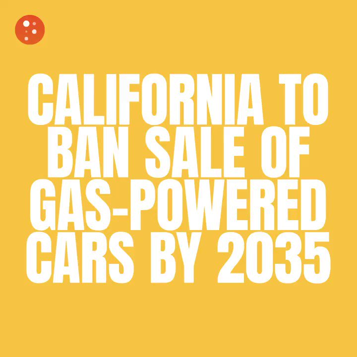 Image for the Tweet beginning: A ban on gas-powered cars