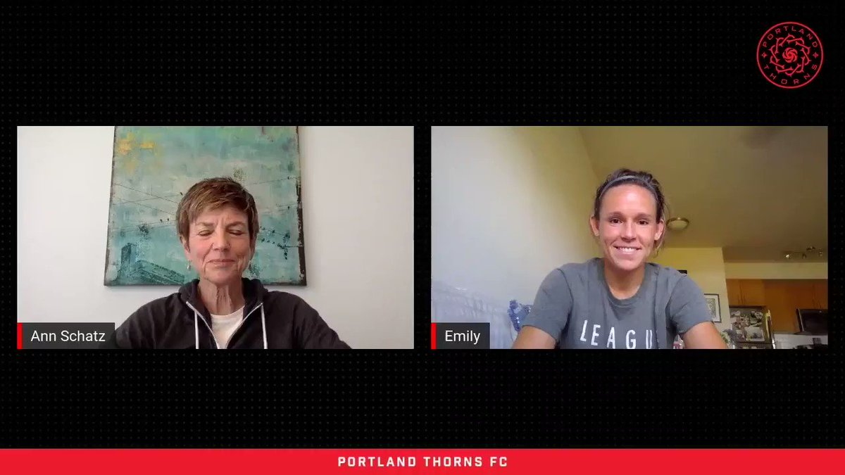 """""""It's like they're here, but they're not… it was the second best."""" @AnnSchatzPdx chats with @em_menges after our 3-0 win over Utah about her 7th season as a pro, being a part of the veteran Thorns crew, and returning to Providence Park. 📺