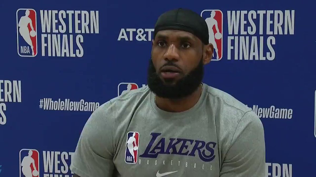 """""""I knew it was winning time and Jamal had it going. ... I told my teammates that I had him.""""  —LeBron on shutting down Jamal Murray in crunch time https://t.co/hWJOwAOgjn"""