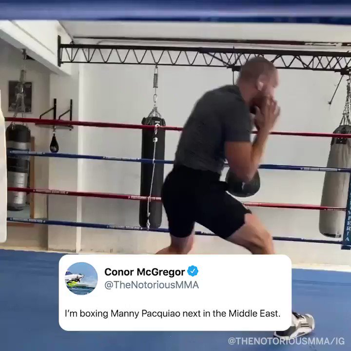 .@TheNotoriousMMA said he's going to fight @MannyPacquiao next 🥊   (via @ESPNRingside) https://t.co/kl0GcXZ90I