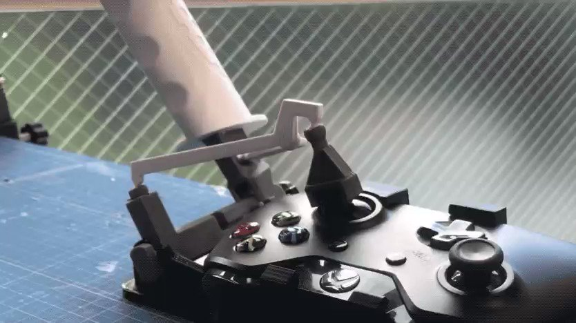 Turn your Xbox One controller into a throttle-and-stick setup with these 3D-printed parts