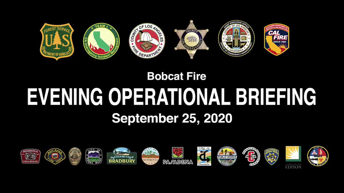 Image for the Tweet beginning: #BobcatFire Evening Operational Update for