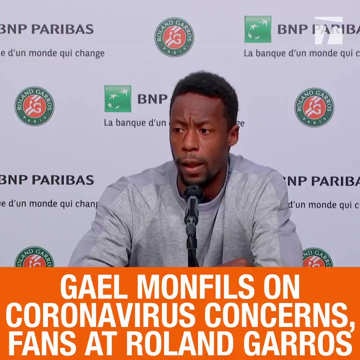 """I guess we're gonna have to do with what we have.""  @Gael_Monfils won't have quite his usual audience to entertain for this year in Paris. 😕  #RG20 https://t.co/JVDwDx53wQ"