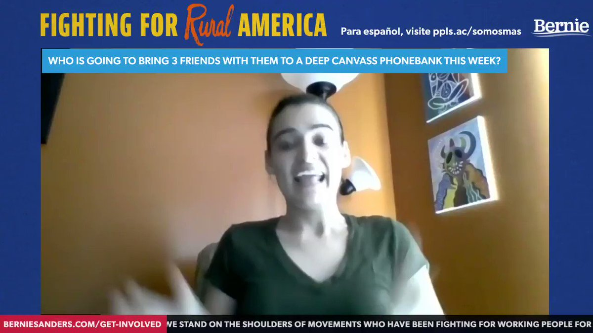 """""""We cannot have a revolution or even anything close to reform if we cannot talk to our neighbors."""" -MariaElena Fournier  Help defeat Trump by signing up for a deep canvass phonebank with @PplsAction. Text WIN to 79606 to get started. https://t.co/dnmIvwxFp0"""