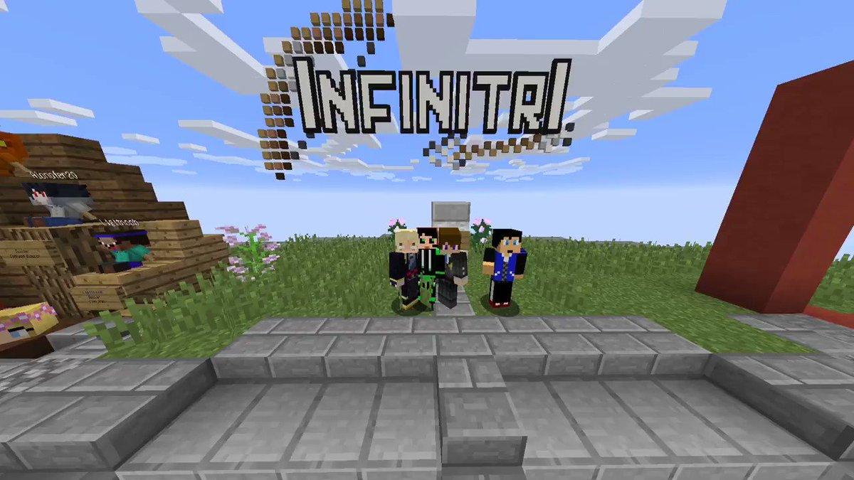 PV風な視点でインフィニトリやってみました!画面がぬるぬるしています。【Minecraft】PV撮りながらインフィニトリを遊んでみた!