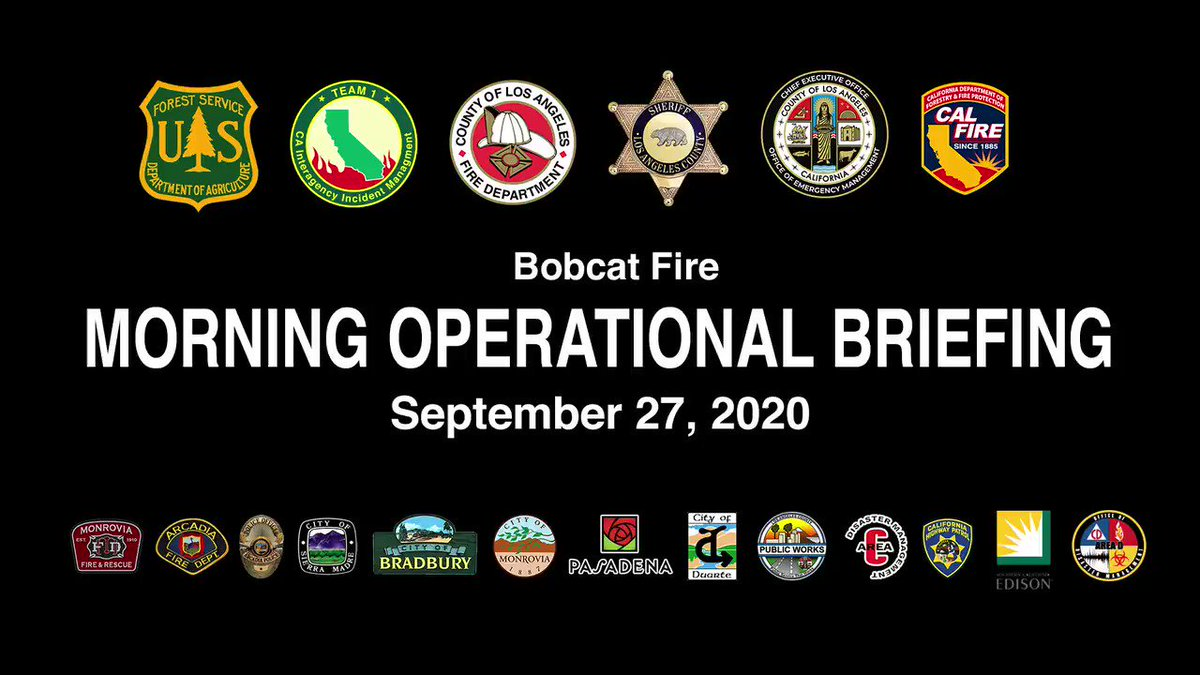 Image posted in Tweet made by L.A. County Fire Department on September 27, 2020, 7:41 pm UTC